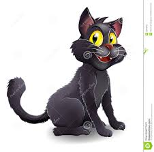 cartoon halloween picture cute halloween witches cat cartoon stock image image 32456501