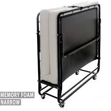 premium folding bed with memory foam mattress u2013 75 u2033 x 31 5