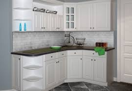 kitchen thermofoil cabinets design made from solid wooden