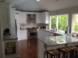 island kitchen layout casual kitchen design with tile window without curtain between