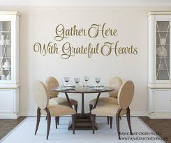gather here with grateful hearts kitchen wall decal