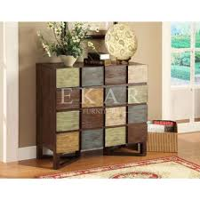 colorful movable cabinet for livingroom antique wood chest of