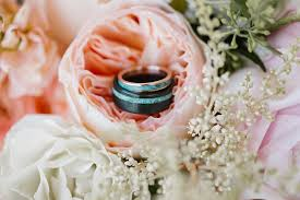 Turquoise Wedding Rings by Staghead Designs