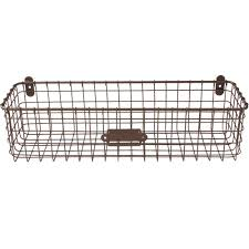 wire baskets and wire storage bins organize it