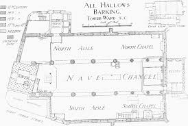 plate 9 all hallows barking ground plan british history online the ground plan of the church