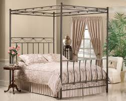 bedroom romantic full canopy bed which slicked up with white