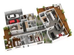 house design plans 3d 3 bedrooms download 3d house floor plans home intercine