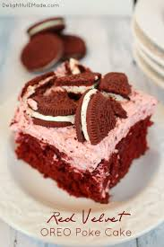 red velvet oreo poke cake delightful e made