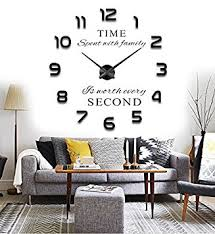 Wall Clock For Living Room by Amazon Com Reliable E 3d Large Inspirational Quotes Wall Sticker