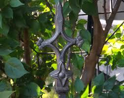 Wrought Iron Garden Decor Wrought Iron Stake Etsy