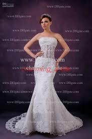 Wedding Dress Makers 2013 Fall Elegant Mermaid Wedding Dresses Strapless Lace