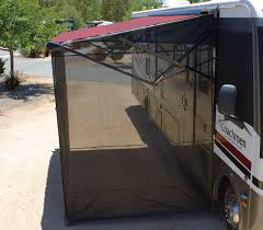 rv awning screen shades keep cool with a vista shade