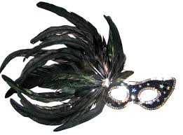 feather masks masks imported