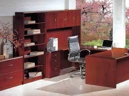 Dark Wood Office Desk Office Desk Beautiful Dark Pink Flower Tree Can Be Seen In Cozy