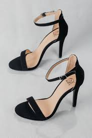 beautiful morning dress sandal classy suede black strappy