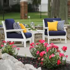 Deep Seating Patio Furniture Sets - poly lumber polywood outdoor deep seating sets