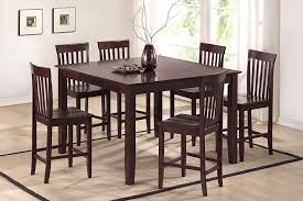rectangle high top table country style dining room with dark brown high top kitchen table set