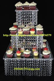 chandelier cupcake stand acrylic chandelier wedding square cake stand 3 tier