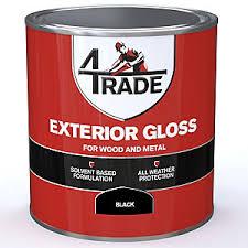 Black Exterior Gloss Paint - gloss paints paint travis perkins