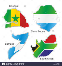 Flags Of African Countries Africa Flag South Senegal Somalia Map Atlas Map Of The World