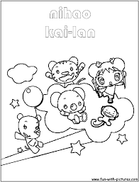 kai lan coloring pages and friends coloring page image 4940