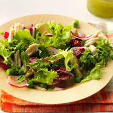 spring chicken and pea salad recipe taste of home