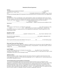 printable residential lease agreements