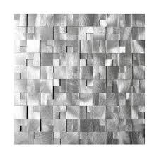 Aluminum Backsplash Sheets by Eden Mosaic Tile Emt Al10 Sil Cb 8pk 3d Raised Cobblestone Pattern