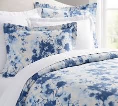 Blue Duvet Alexa Watercolor Duvet Cover U0026 Sham Pottery Barn