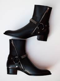motorcycle boots harness saint laurent signature chain harness wyatt boots review luster