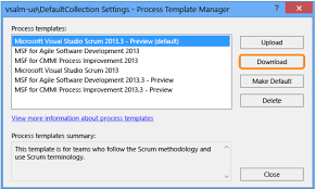 download the latest version of the process templates