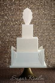 sugar realm u0027s new signature art deco wedding cakes life in a