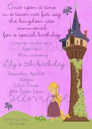 tangled inspired birthday invitation gold frame rapunzel