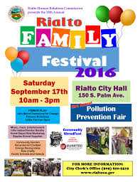 family festival pollution prevention fair flyer rialto water
