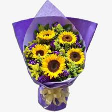sunflower wrapping paper sunflower purple flowers gift wrapping sunflower purple wrapping