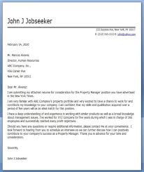 Cover Letters For Resumes Sample by 16 Property Manager Resume Cover Letter Riez Sample Resumes