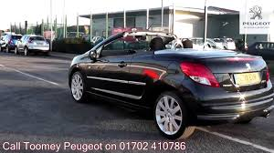 peugeot 207 2011 2011 peugeot 207 cc gt 1 6l onyx black metallic en11euk for sale