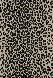 schumacher iconic leopard belgium linen fabric ebony natural