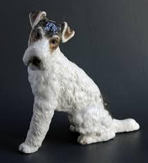 vintage rosenthal kunstabteilung dog figurine wirehair fox terrier