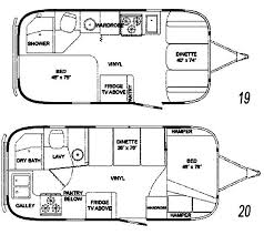 Small Rv Floor Plans The Vintage Airstream Refurbished Travel Trailer Floor Plan