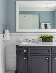 Bathrooms With Beadboard Semi Recessed Vessel Sink Bathroom Contemporary With Bathroom