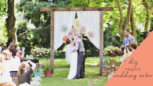 wedding arches and arbors diy rustic wedding arbor knock it the live well network