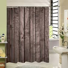 Shower Curtains Rustic Polyester Shower Curtain Bronze Wooden Garage Door Vintage