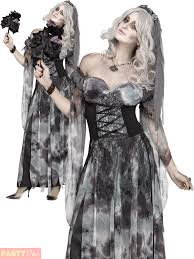 ladies cemetery bride costume adults corpse halloween fancy dress