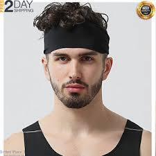 headband men mens sports headband guys elastic thin sweatband running workout