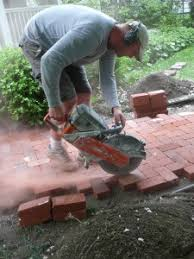 Cutting Patio Pavers Laying Paver Paver Installation 101 Special Additions