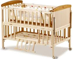 wood crib lacquerless baby bed bb multifunctional child bed pine