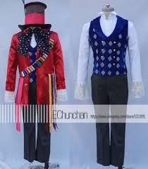 Mad Hatter Halloween Costume Men Alice Wonderland Costume Men Promotion Shop