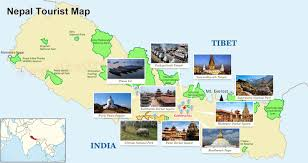 Nepal On A World Map by Nepal Tourist Map Nepal Travel Map Map Of Nepal Attractions