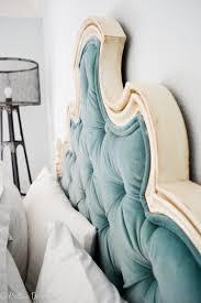 Wingback Tufted Headboard Furniture Simple Tufted Headboard Design For Master Bedroom Decor